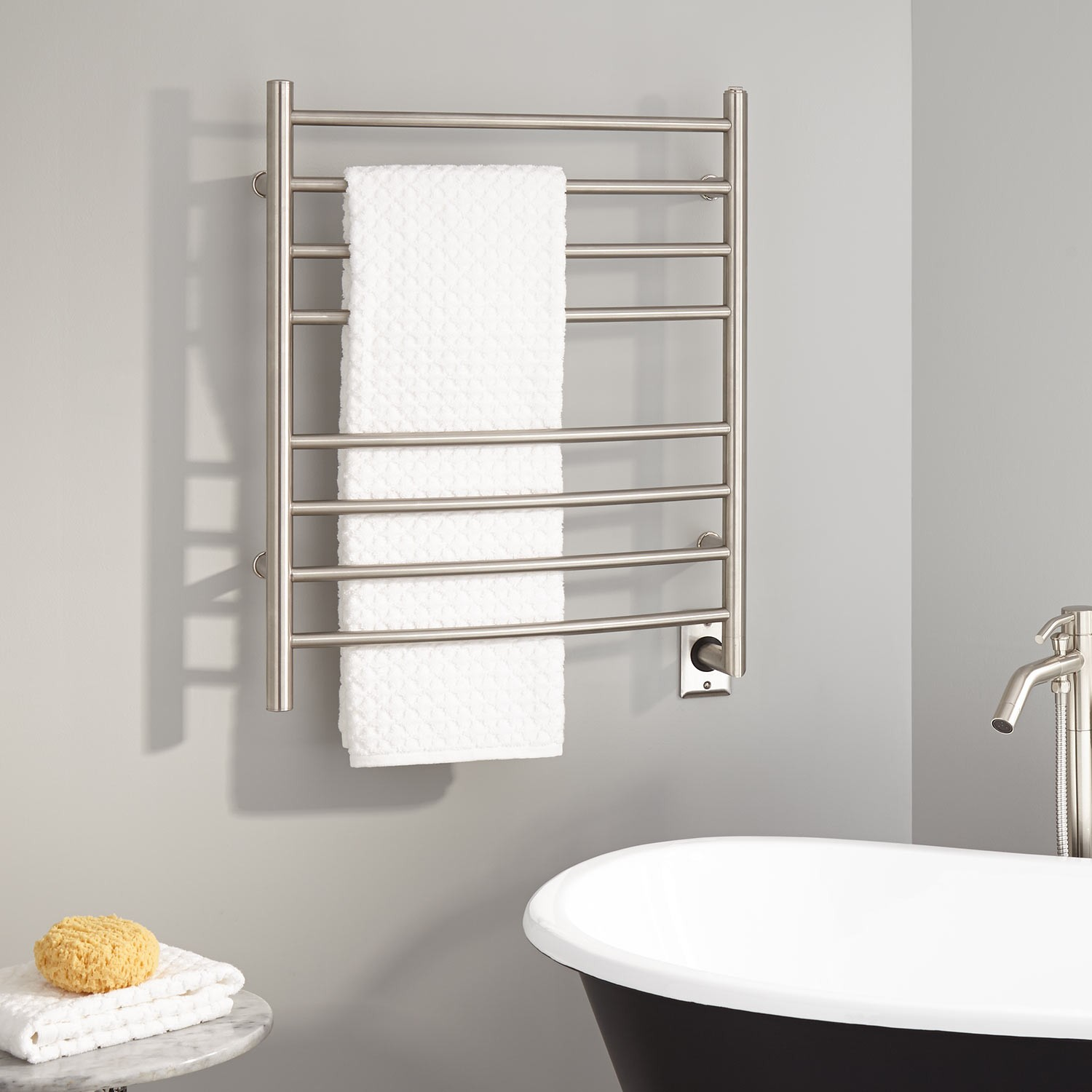 Towel Warmer in the bathroom from Tub Bathrooms Milton Keynes